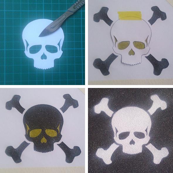 Proces-stencil-skull